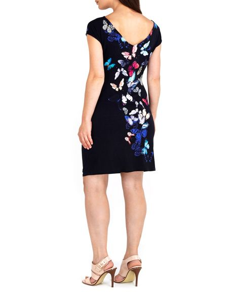 Wallis Scattered Butterfly Dress