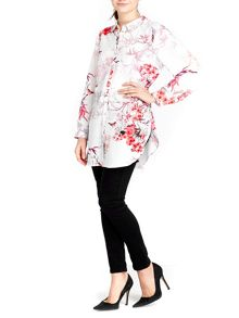 Wallis Floral Bird Printed Shirt