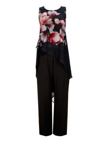 Wallis Pink Butterfly Split Jumpsuit