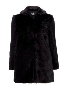 Wallis Plush Fur Midi Coat