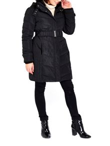 Wallis Black Buckle Collar Coat