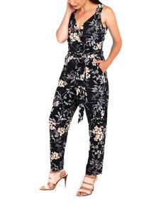 Wallis Neutral Floral Jumpsuit