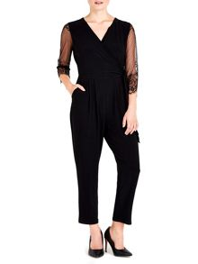 Wallis Petite Black Lace Jumpsuit