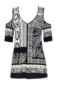 Wallis Petite Neutral Paisley Tunic