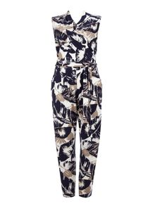 Wallis Palm Leaf Jumpsuit