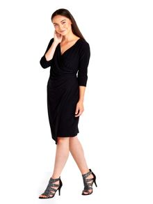 Wallis Black Wrap Dress
