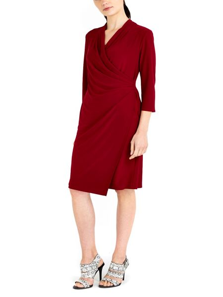 Wallis Berry Wrap Dress