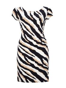 Wallis Zebra Wrap Dress