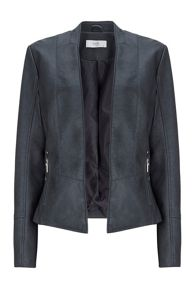 Wallis Black Edge to Edge PU Jacket