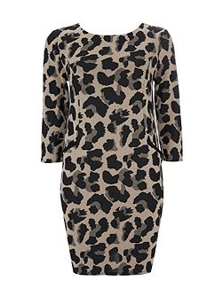 Animal Jacquard Dress