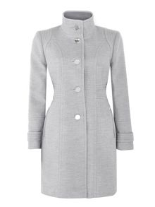 Wallis Grey Zip Pocket Funnel Coat
