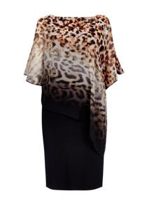 Wallis Animal Printed Overlay Dress
