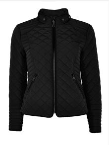 Wallis Black Quilted Short Jacket