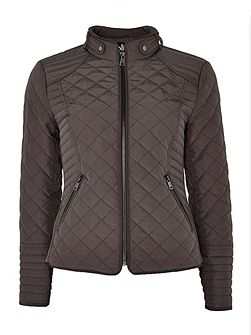 Mink Quilted Short Jacket