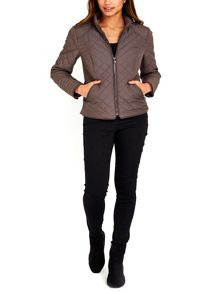 Wallis Mink Quilted Short Jacket