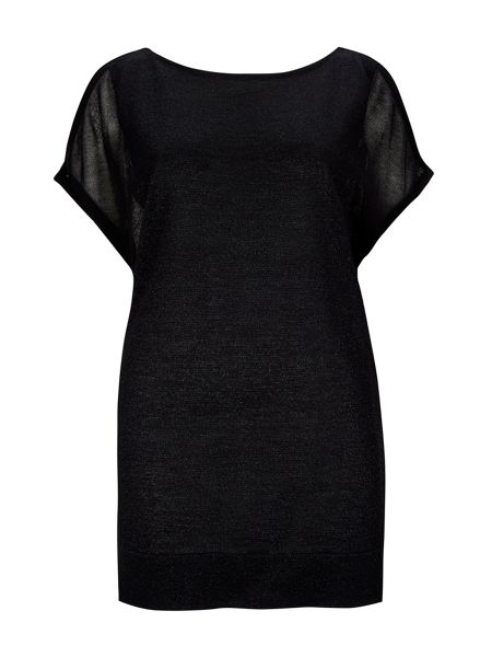 Wallis Black Cold Shoulder Top