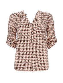 Wallis Petite Diamond Print Shirt