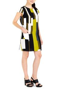 Wallis Lime Colourblock Tunic Dress