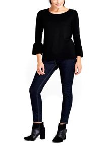 Wallis Black Flare Sleeve Jumper