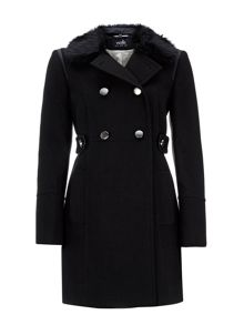Wallis Faux Fur Collar Coat