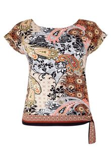 Wallis Petite Paisley Tie Side Top