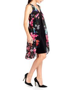 Wallis Floral Overlayer Dress