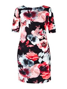Wallis Butterfly Print Shift Dress