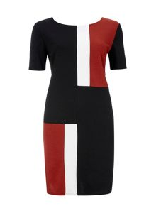 Wallis Ponte Colour Block Dress
