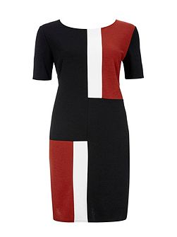 Ponte Colour Block Dress