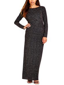 Wallis Rose Gold Sparkle Maxi Dress