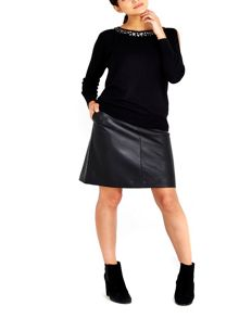 Wallis Petite Black A-Line Skirt