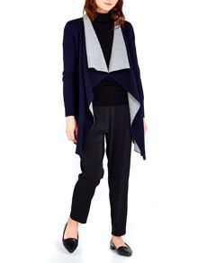Wallis Navy Double Faced Cardigan