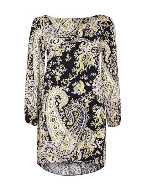 Wallis Paisley Woven Tunic Dress