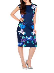 Wallis Navy Floral Mirror Shift Dress