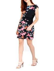 Wallis Black Floral Wrap Dress