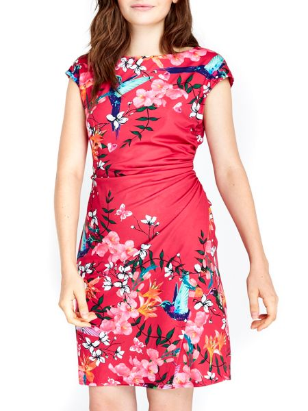 Wallis Pink Floral Wrap Dress