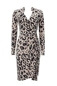 Wallis Animal Print Wrap Dress