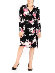Wallis Oriental Floral Wrap Dress