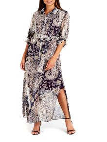 Wallis Paisley Shirt Maxi Dress