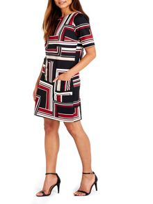 Wallis Berry Stripe Ponte Dress