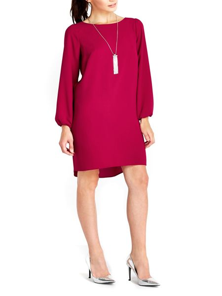 Wallis Pink Necklace Trim Dress