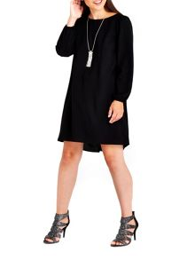 Wallis Black Necklace Trim Dress