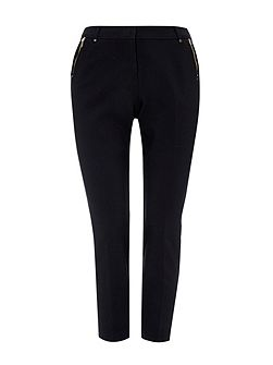 Petite Black Tapered Trouser