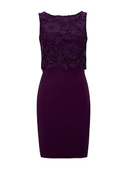 Petite Purple Crochet Dress