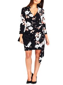 Wallis Petite Asian Floral Wrap Dress