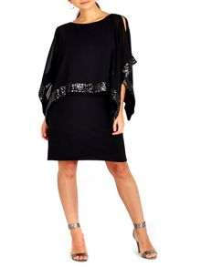 Wallis Petite Asymmetric Sequin Dress
