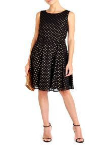 Wallis Hotfix Spot Fit and Flare Dress