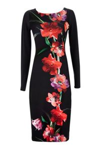 Wallis Black Oriental Floral Dress