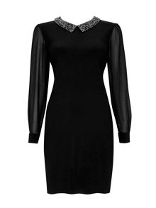 Wallis Embellished Collar Dress