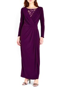 Wallis Lace Cowl Maxi Dress